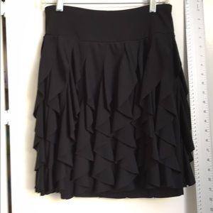 Black Ruffled Skirt, Size Small